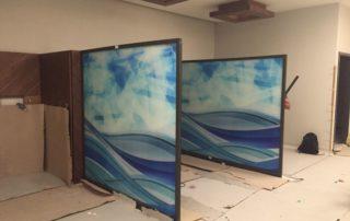 Glass Printing Divider for Hospital